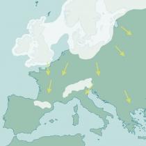 Mapa da Glaciação de Würm