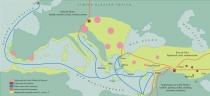 Mapa Rotas Comerciais Idade do Bronze