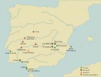Mapa dos Sitios citados no texto