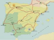 Mapa da Presenca Romana na Peninsula