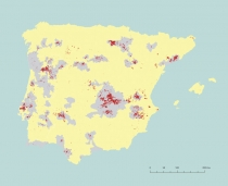 Karte der Weinbau Konzentration Vicente
