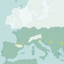 Mapa da Glaciação de Mindel