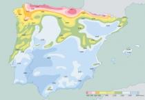 Mapa de Niveis de Insolacao na Peninsula Iberica