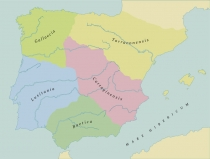 Mapa de Povos da Peninsula Iberica