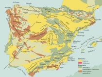 Carta Geologica da Peninsula Iberica
